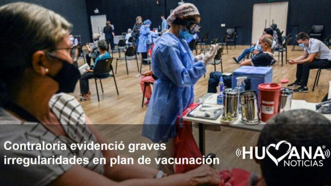 Irregularidades plan nacional de vacunación