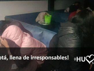 irresponsables en fiestas clandestinas en Bogotá