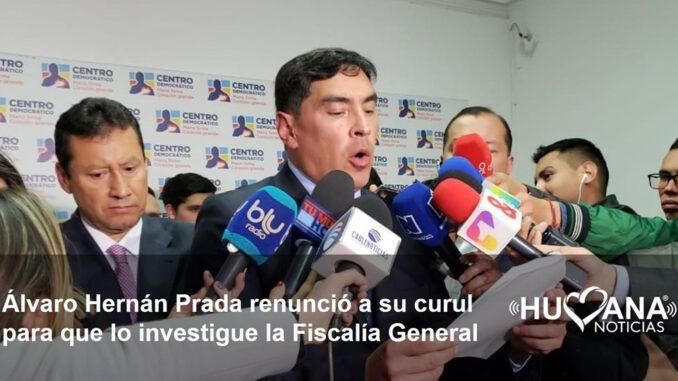 Álvaro Hernán Prada Renuncia a su curul