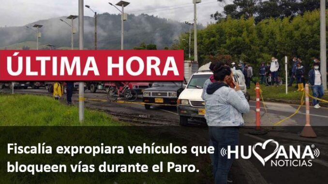 fiscalia expropiará vehiculos en medios del paro