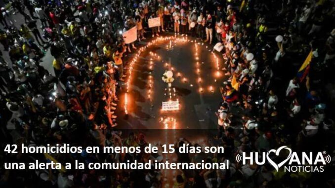 42 personas asesinadas en protestas del paro nacional en colombia