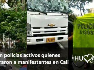 policias disparando en cali vestivos de civiles