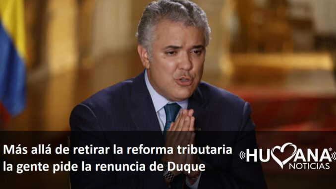 Renuncia duque - reforma tributaria