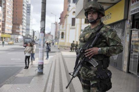 soldados en Bogotá
